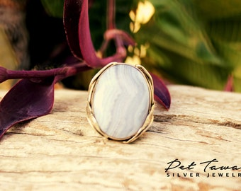 Ring with  Agate