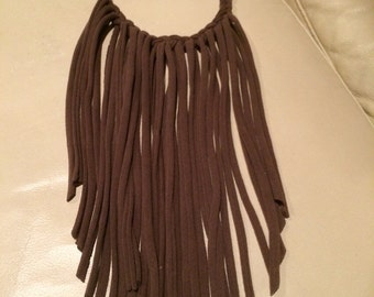 Brown Fringe Necklace