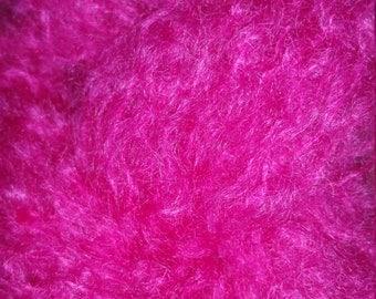 Designer Mohair Yarn (78%) Luxurious Mohair Double Knitting (light Worsted) 25g skein in Fuchsia