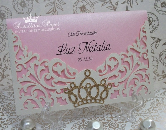 Quinceaera Invitation Crown Invitation Tiara Invitation