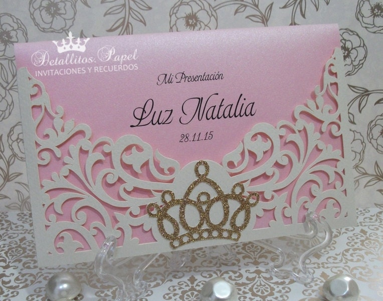 quincea u00f1era invitation crown invitation tiara invitation