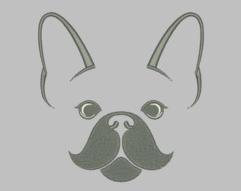France Bulldog Machine Embroidery Design 7 Size - INSTANT DOWNLOAD