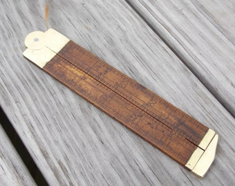 Stanley SweetHeart folding ruler brass and wood