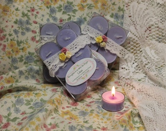"""Lilac"" soy wax candles"
