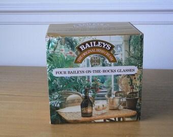 Four Baileys On-the-Rocks Glasses - Produce of Ireland.