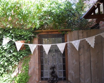 Linen & Lace Bunting