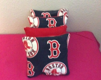 MLB Boston Red Sox cornhole bags set up 4
