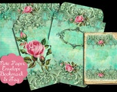 Magestic Teal Note Paper Set