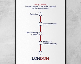London Underground Map | Alan Partridge | Steve Coogan | Minimal Artwork Poster