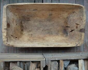 Wood dough bowl - Rustic wooden dough bowl - Rustic decor - Primitives decor - Country decor - Antique dough bowl - Handcarved bowl