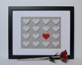 Anniversary Gift- Gift for Wife, Gift for Husband, 1st Anniversary, Paper Anniversary, Wedding Vow Art,  Lyric Art, Bridal Shower Gift