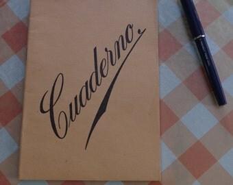 Spanish Notebook A5 Blank Unused