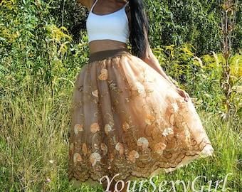 Elegant Flower tulle tutu skirt