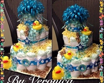 Ducks Diaper Cake 3 Tier