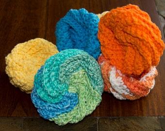 Crocheted Cotton Scrubbies/Twashi