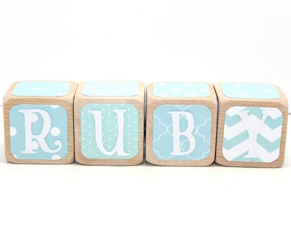 Baby Gift Name Blocks : Personalized wood blocks baby name shower gift