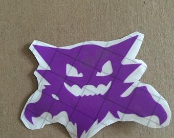Pokemon- Haunter Vinyl Decal- Purple