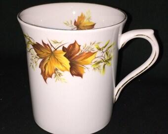 Queens Fine Bone China Made in England Maple Leaf Pattern Cup; Fine Porcelain Bone China Cup