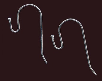 Ball tip earwire 23mm silver plated pkg of 4. b9-1087(e)