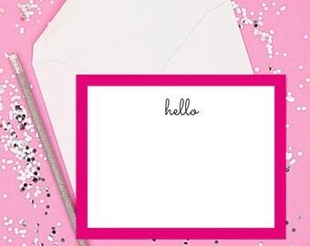 Hello Stationery // Hello Notecard // Stationery Set