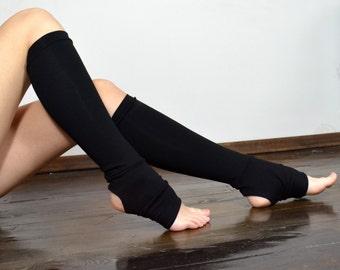 Black legwarmers / leg warmers/ yoga leg wormers/ sport legwarmers