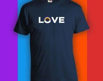 Love - Gay Pride Ally t-Shirt, Gay Pride Clothing, Mens Womens Shirts, Lgbt, LGBTQ shirts, Gay Wedding Gift, Gay Pride Gift, lgbt allyCT-459