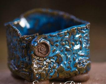 Blue Cobalt Square Pot, Succulent-Pottery, Succulent Planter, Handmade Pottery, Made in USA, Succulent Garden, Succulent Plant