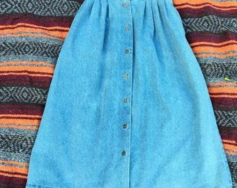 Full Length Denim Skirt