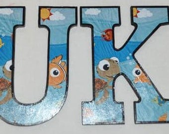 Disney Baby Nemo Inspired Wood Letters