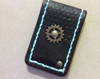 Glow-in-the-Dark Gearpunk Magnetic Money Clip
