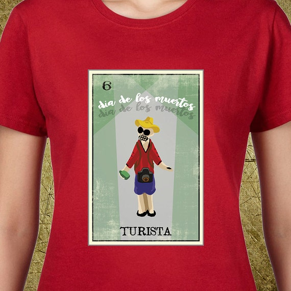 Turista Day Of The Dead Loteria Ladies Tee Loteria
