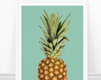Pineapple Print - Kitchen Art Print - Pineapple Photograph - Modern Kitchen Decor Minimalist Art Fruit Print