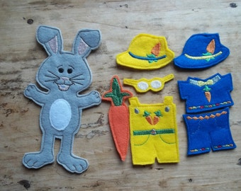 Dress A Bunny : Easter Toy, Easter Bunny, Basket Filler, Pretend Play, Dress Up