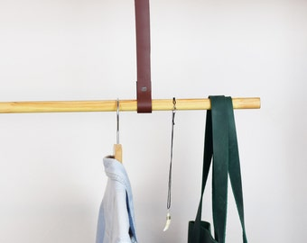 leather straps for clothing rack hanging clothing rack clothing rack garment rack - Clothes Hanger Rack