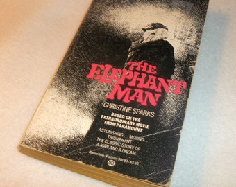 THE ELEPHANT MAN Paperback Book 1980 Movie tie-in Christine Sparks John Merrick David Bowie