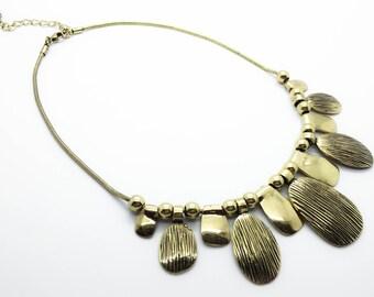 Statement Necklace, boho necklace, bohemian necklace, tribal necklace, circles necklace, gypsy necklace, Metal Necklace, simple necklace
