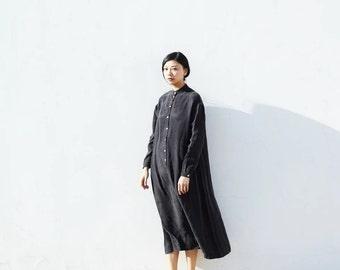 Black cupro maxi dress BonLife