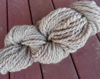 Handspun Yarn 100% Naturally Colored Polwarth Yarn Super Bulky Weight