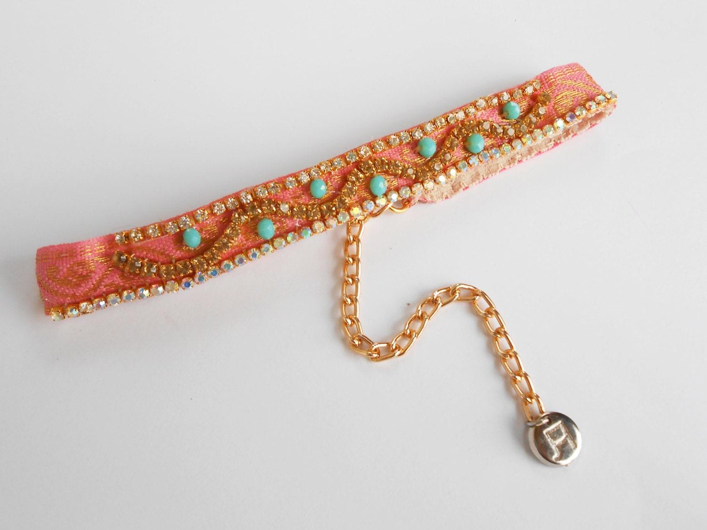 statement choker necklace thin choker necklace 90s choker pink