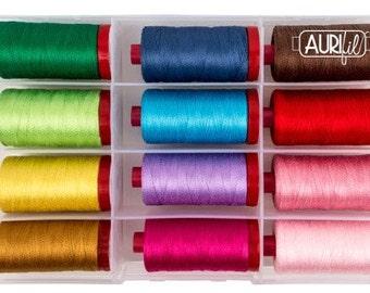 FRESH MODERN & TIMELESS Aurifil Thread - 50 wt Lg Spools 100% Egyptian Cotton