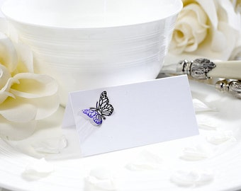 Pretty Romantic Wedding Table Butterfly Place Cards, Party Decor - Pack of 10