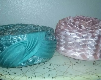 Sale!*50s 60s pill box hat lot of two