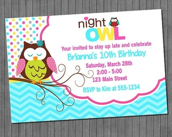 65% OFF SALE Night Owl Party Invitations