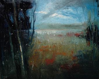 Broken. 24X30 Original abstract landscape oil painting.