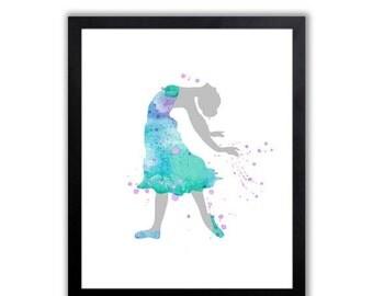 Watercolor Ballerina Art Print - Abstract Watercolor Painting - FIG017