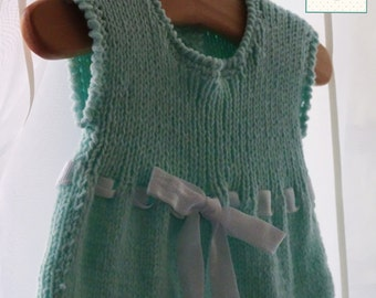 Handmade knitted baby dress