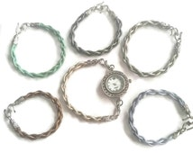 Watch Gift Set - Adjustable Watch Set - Interchangeable Watch Set - Leather Watch Set - Cream  Watch - Blue Watch - Mint Watch - Grey Watch