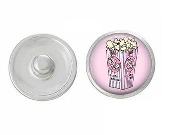 popcorn snap charm popcorn charm bracelet popcorn snap jewelry popcorn necklace interchangeable jewelry mix and match movie popcorn charm