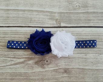 4th of July headband, Blue headband, American flag, Baby headband, Toddler headband, Photo prop, Baby pictures