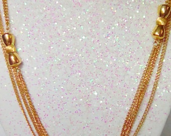 """Monet 70's Era 56"""" Long Chain Gold Plated Necklace"""